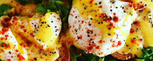 Eggs Benedict with Spicy Hollandaise Sauce